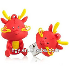 Novelty Chinese dragon cute cover usb drive 2gb(LH-459)