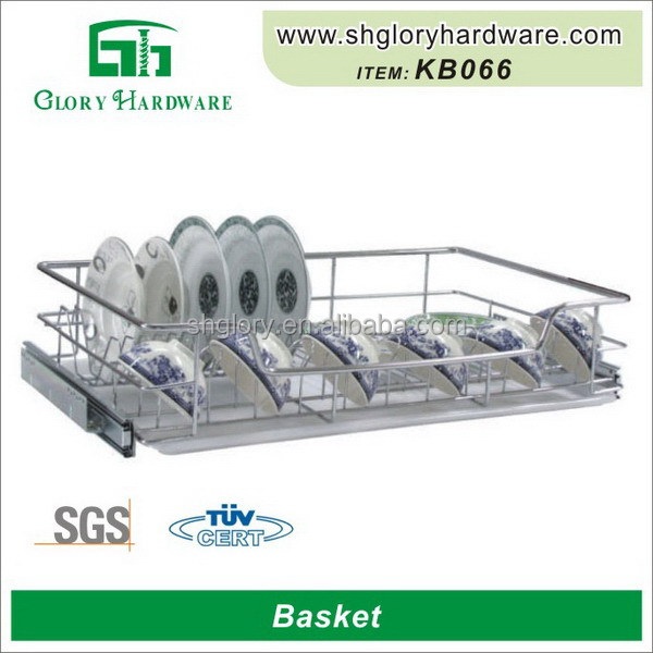 Top quality most popular cabinet sliding basket wire baskets