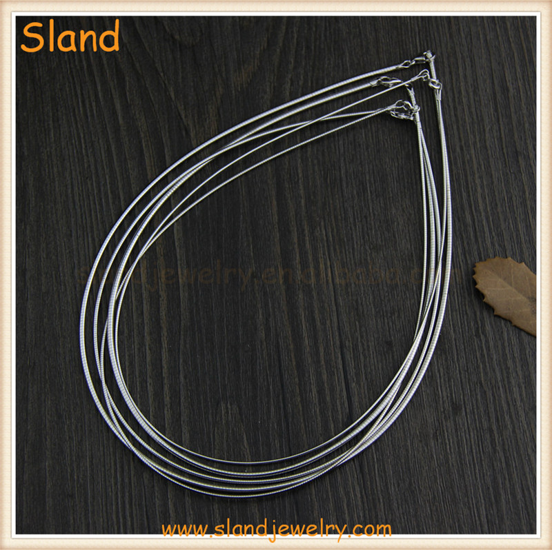 high quality Jewelry Making Findings 1mm 925 sterling silver wire for necklace