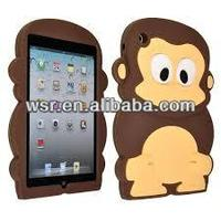 Cute 3D Monkey Silicone Soft Back Cover Skin Case for Apple iPad Mini