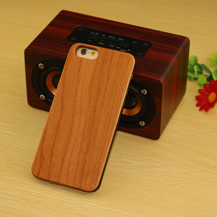 laser engrave logo bamboo wood case for iphone 5