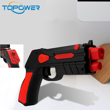 Augmented reality zombie 3d gun shooting games die cast toy ar game gun plastic disc kids toy guns