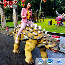 Theme park equipment realistic walking dinosaur ride for sale