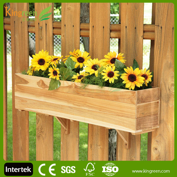 2014 ECO-Friendly and beautiful WPC flower box, wooden planter box