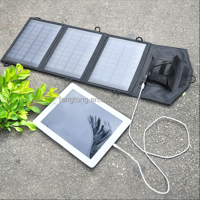 6W Folding Solar Panel USB Travel Camping Portable Battery Charger For Phone