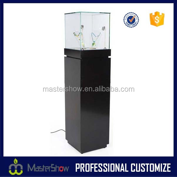 Glass jewelry display cabinet and showcase for jewelry shop