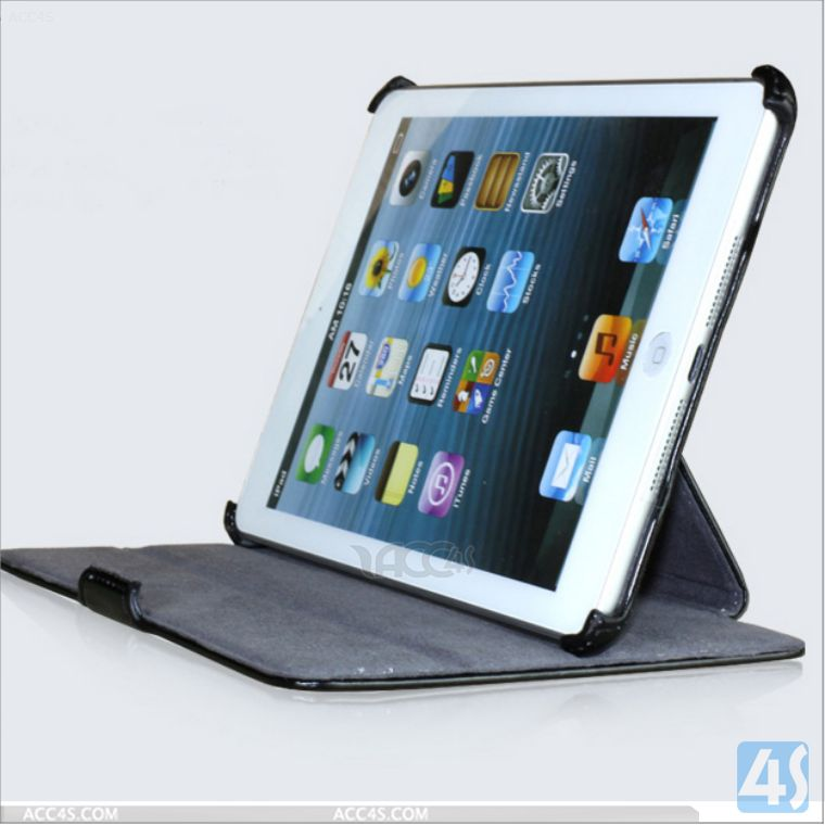 Ultra Slim Magnetic Leather Smart Cover + Hard Back Case for iPad mini with retina display/Wake up&Sleep P-iPDMINICASE140