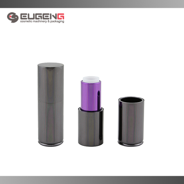 12.1mm purple round aluminum magnetic lipstick bottle
