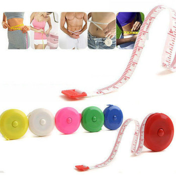 Retractable Ruler Tape Measure 60 inch 1.5M Soft Flat Tape Measure Tools Body Fat Tester body fat monitor Women Men fat measure