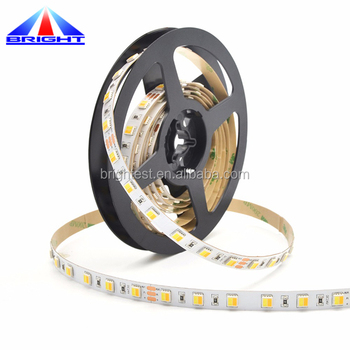 Superhigh lumen CCT adjustable bi color 5050 led strip, 60led/m WW+CW 5050 led strip