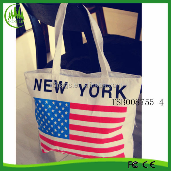 2015 Hot Selling Yiwu Supplier Wholesale New Design Popular Canvas Tote Bag