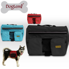 Doglemi Wholesale Pet dog bag Medium and large Big dogs outdoor backpack Saddle Bags for Hiking