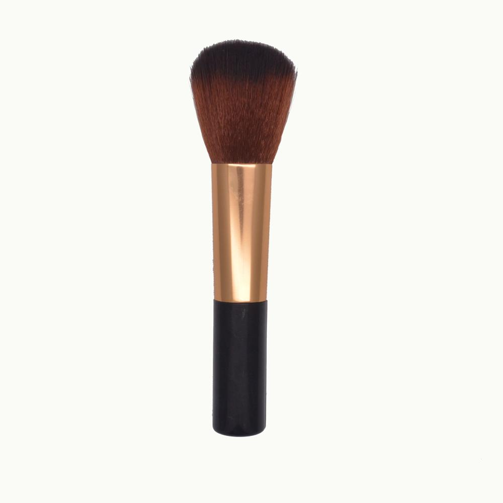 Factory direct selling new style single high-grade powder brushk black and gold for <strong>beauty</strong> girls