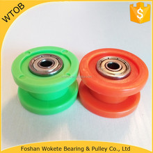 Customized Silica Gel Pulleys Wheel 625ZZ Carbon Steel Ball Bearing