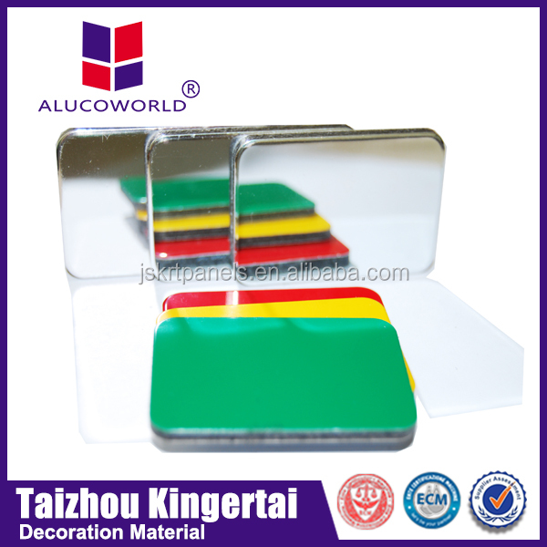 Alucoworld high gloss finish/coating wall decorative plastic stone panels