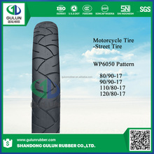 High quality motorcycle tyre 90/90-17 with high natural rubber rate