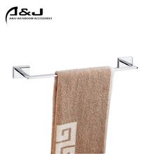 Wall Mounted 60cm Brass and Chrome Finished Single Towel Rail Hotel Bathroom Towel Bar