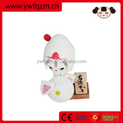 wholesale wooden decoration fashion japanese cloth doll