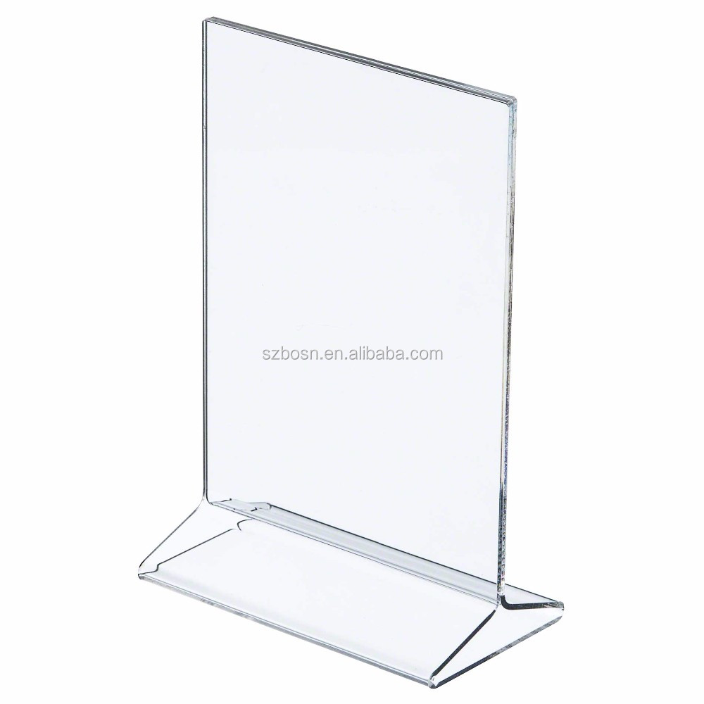Hot sell acrylic restaurant menu stand Perspex table tent sign holder for restaurant