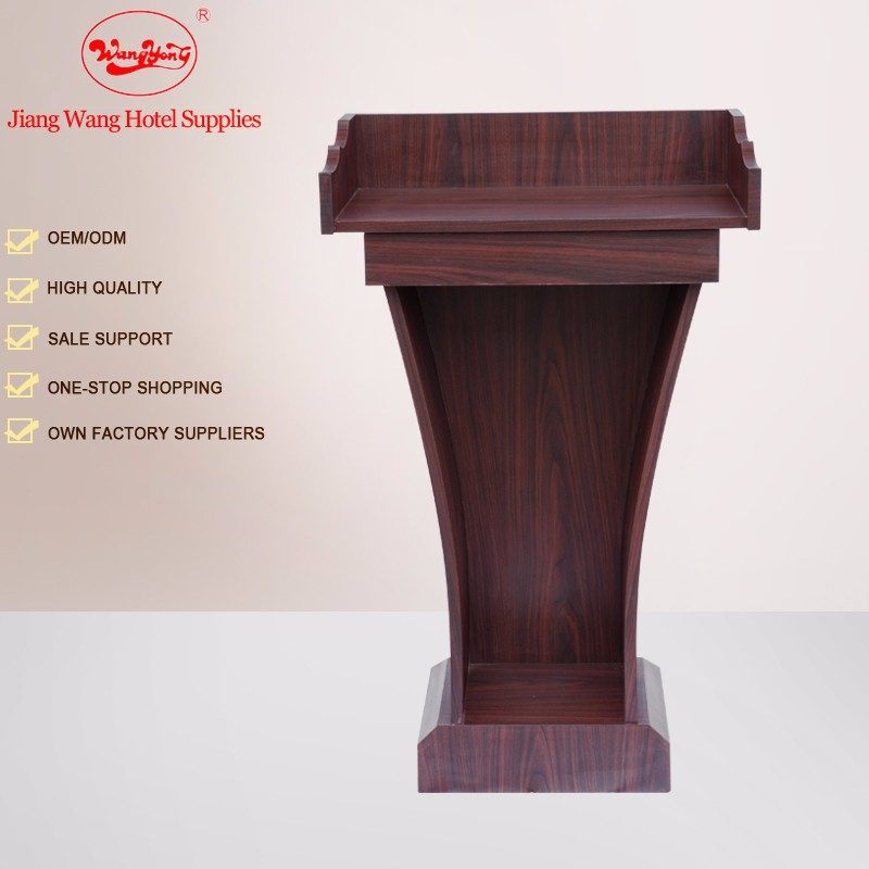 Cheap cherry finsh soild wooden church pulpit designs price