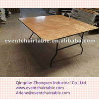 wood square banquet folding table ZS-8912A