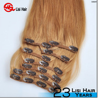 2015 beauty products cheap 100% human hair clip in hair extension from qingdao china