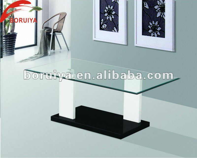 2015 hot sale modern design glass center table for living room
