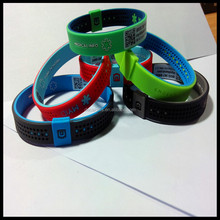 printing cartoon pictures power balance silicone negative ion bracelets for health
