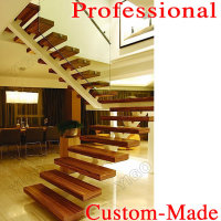thick wood stair treads/crystal stairs design