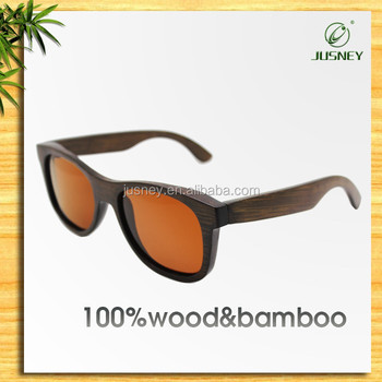 2016 Popular Christmas Gift Natural Real Bamboo Wood Optical Glasses With Sunglasses