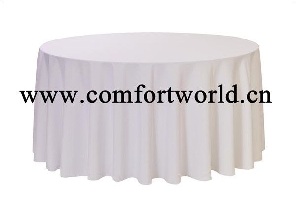 "Hotel Home Restaurant Wedding Use 100% Polyester Plastic 120"" Round Table"