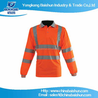 2016,Polo shirt high visibility reflective safety clothing for men
