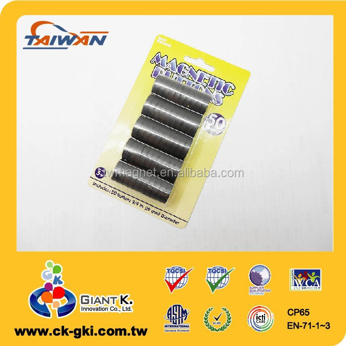 For crafts DIY magnetic button disc magnet ferrite magnet