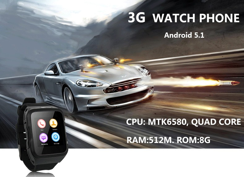 2016 newest 2G 3G smart watch phone with bluetooth wifi
