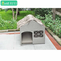 Cottages PE Rattan & Steel Outdoor Wicker Pet Dog Cat House Kennel