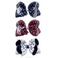 New Girls Fashion Dots Bows With Alligator Clip HBW-1612227-L