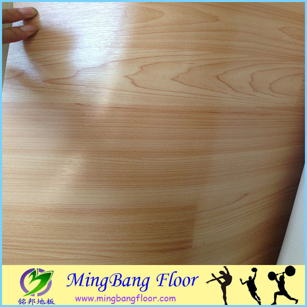 plain color pvc flooring mat for dance studio
