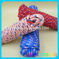 professional diamond 16-strand braided nylon/pp/polyester rope for mooring use
