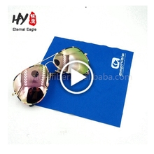 Recycled microfiber printed eyeglasses cleaning cloth