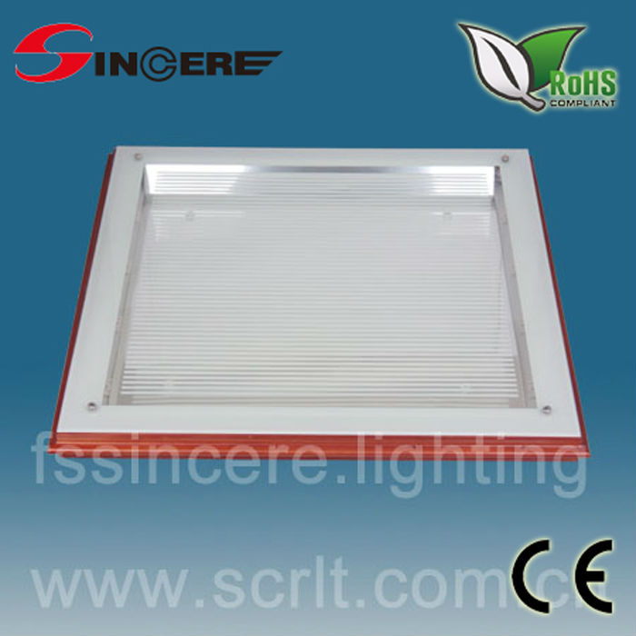 T8 Wood frame glass Louver led Decorative fluorescent luminaries