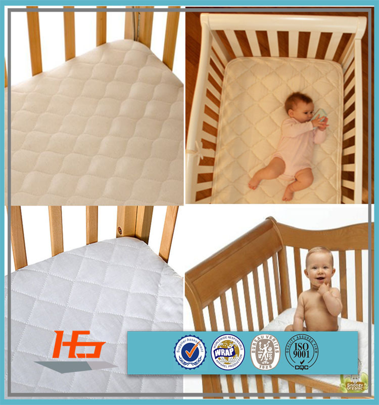 onion pattern quilted baby crib mattress waterproof cover for children