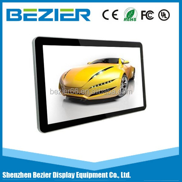 42 inch wall mounted indoor advertising lcd displays 3G tablet