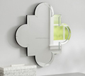 China hot sale glass flower shape decorative wall mirror