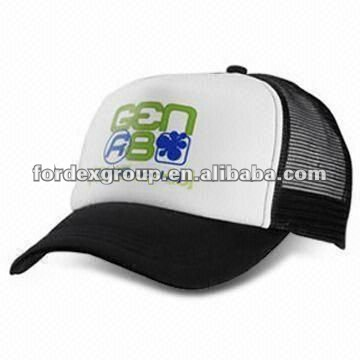 Trucker Men's Cap, Padded Polyester Front Panel with Nylon Mesh Back and Sides