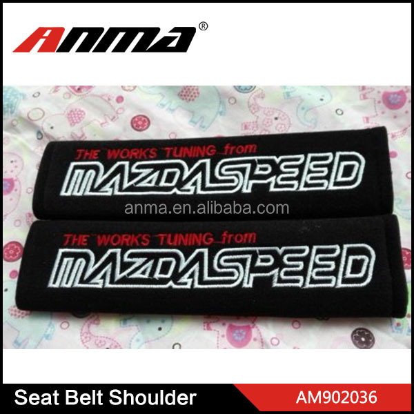 HOT SALE car logo seat belt cover / protective seat belt shoulder pad