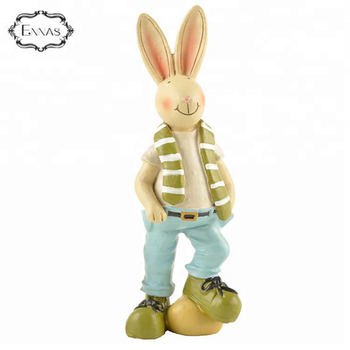 Resin kids easter figurines easter bunny gift norse fesdval of snrins sun