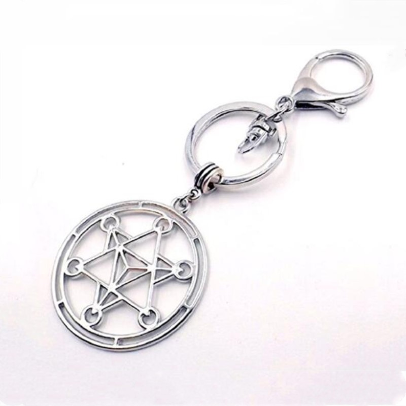 Yiwu Meise Merkaba Stainless Steel Pendant Silver-tone Key chain Purse Bag Charm