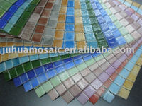 blue swimming pool mosaic tile