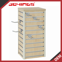 Foshan MDF Slatwall Rotating Counter Displays with Slatwall Hook