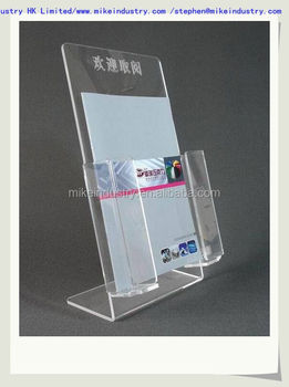 Creative Led Strip Illuminating Acrylic Cell Phone Usb Charger Retail Counter Display Stands